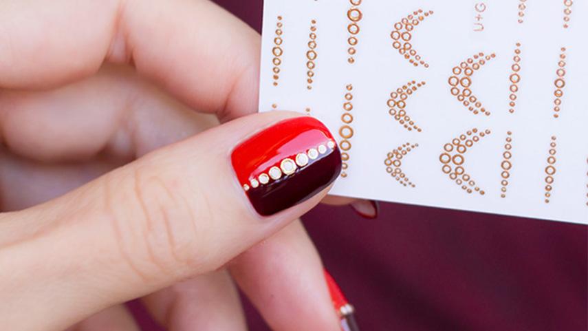 Hướng dẫn thiết kế mẫu nail sang chảnh với nhãn dán giọt nước